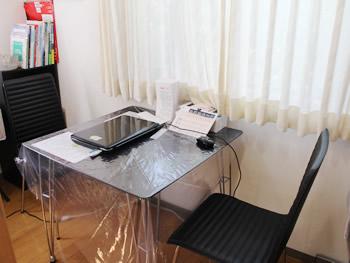 コンサルテーションルームです。皆さんの想いを聞いたり、治療計画を説明する部屋です。